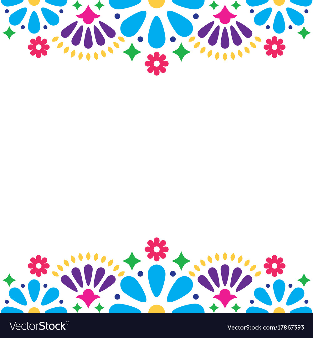 Mexican folk wedding or party invitation vector image mexican folk wedding or party invitation vector image stopboris Images