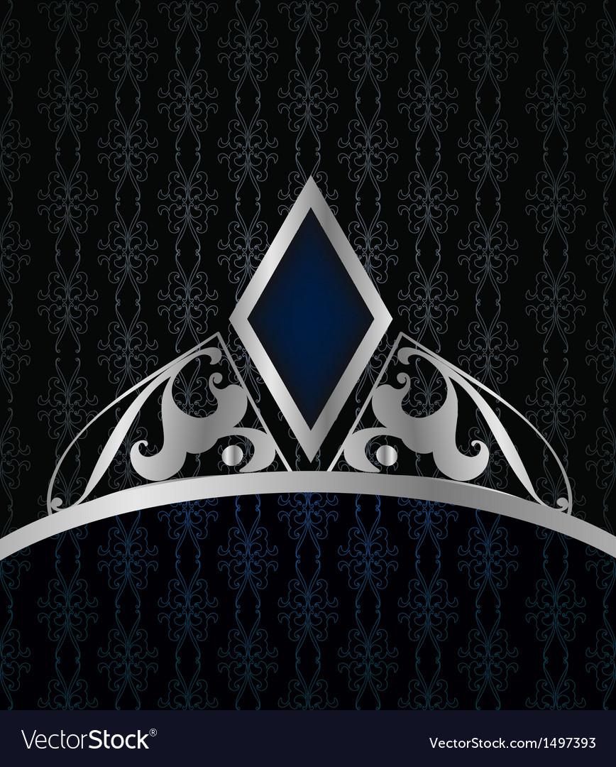 Vintage blue background vector image