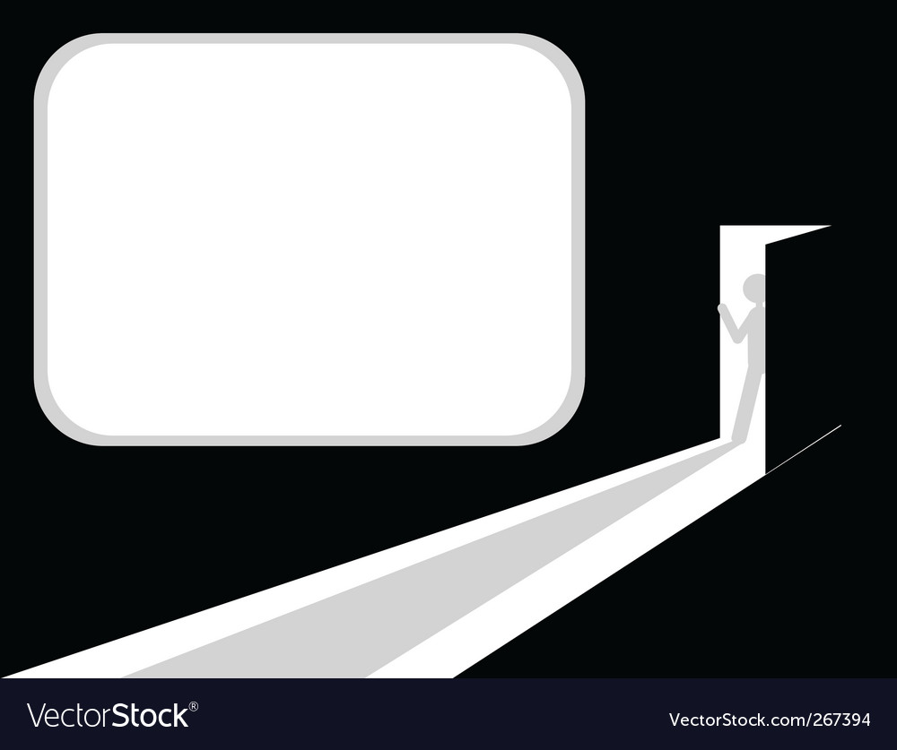 Man entering room vector image