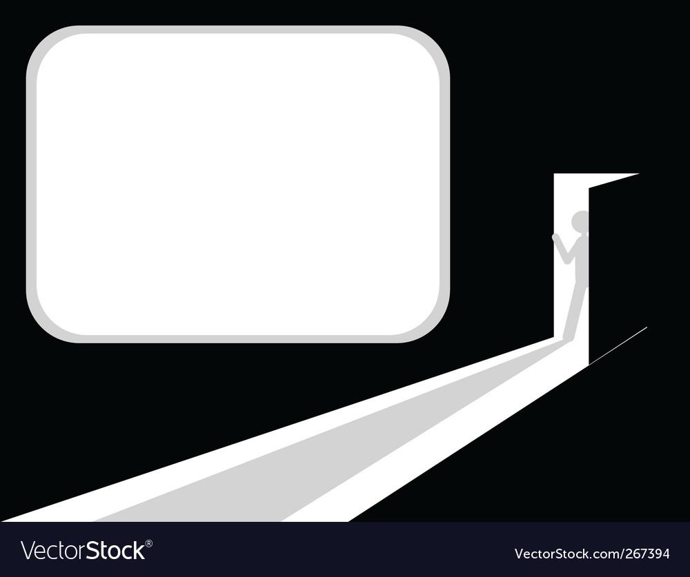 Man entering room vector image