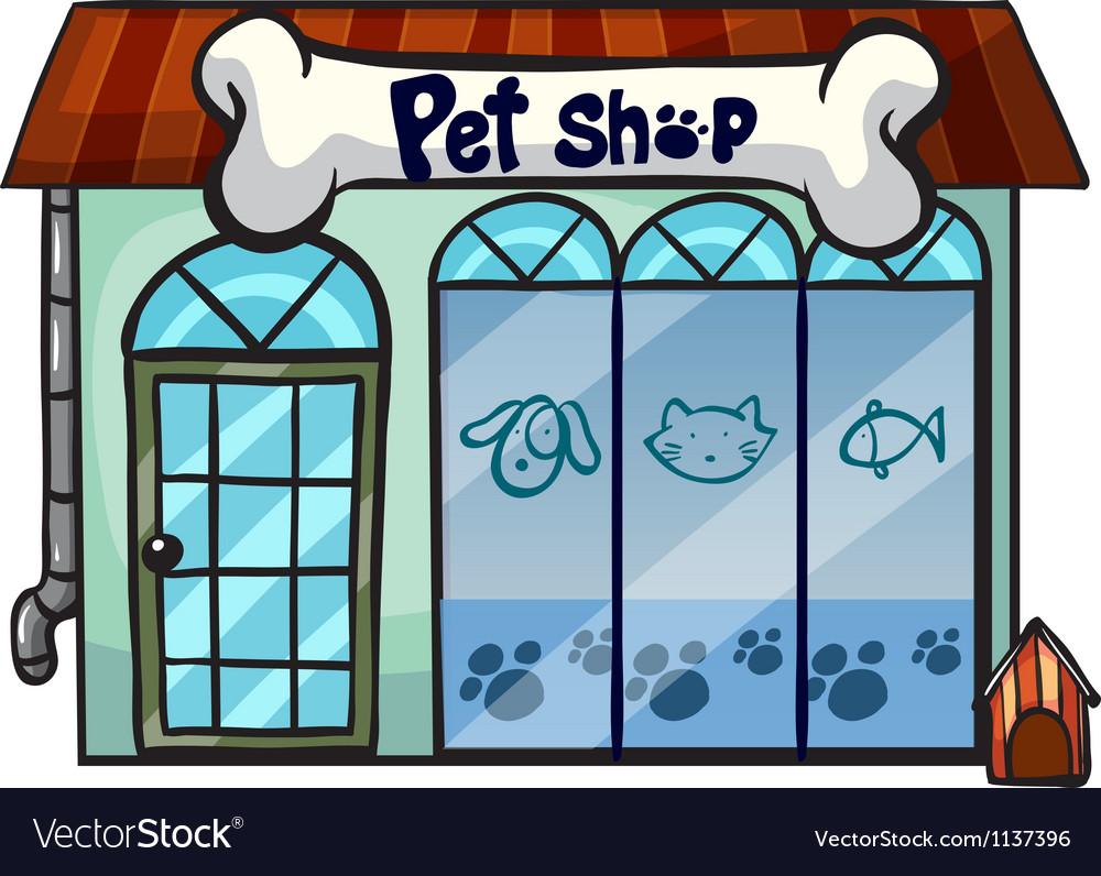 A pet shop vector image