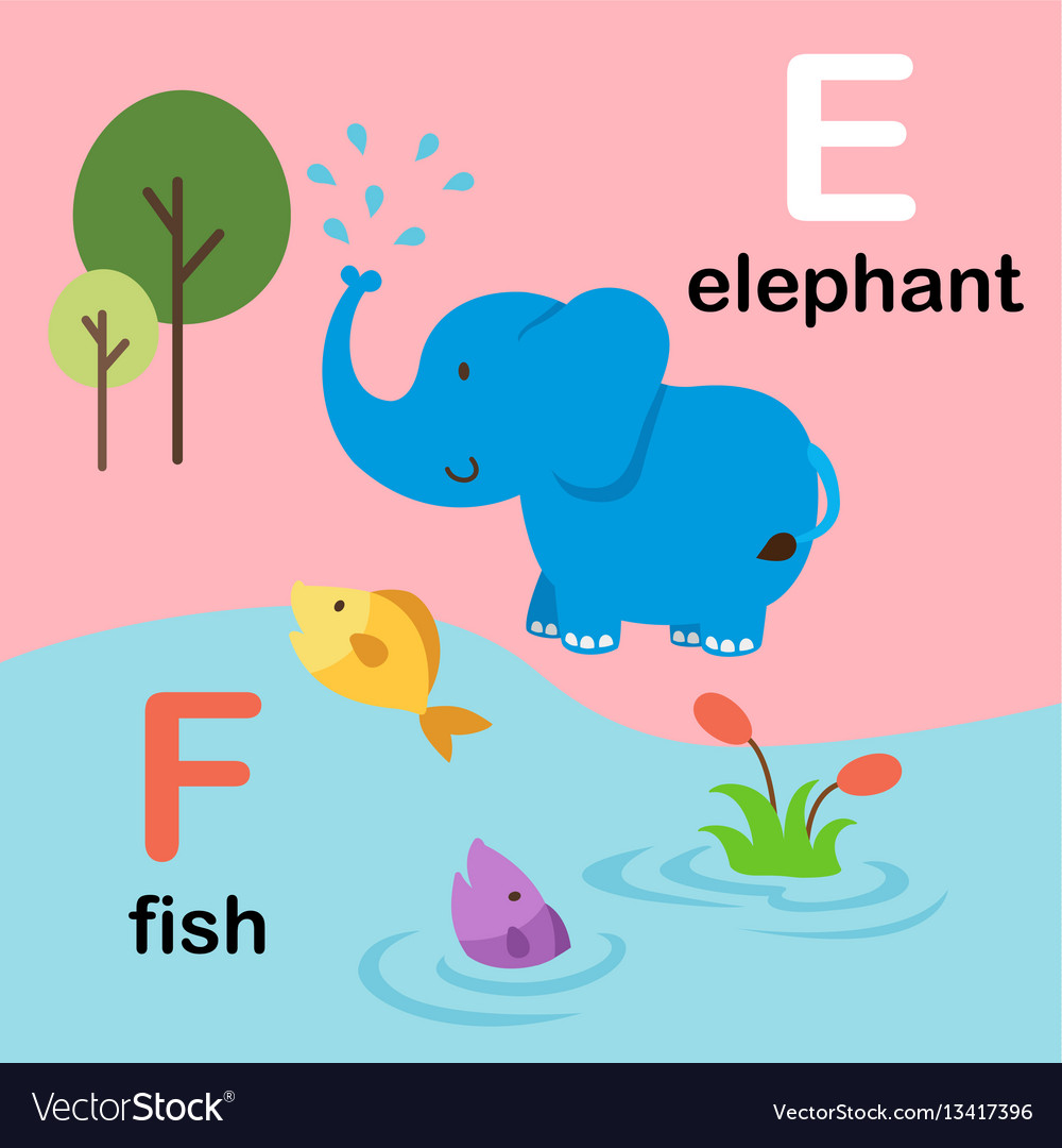 A letter F for fish stock vector. Illustration of fish - 44999970