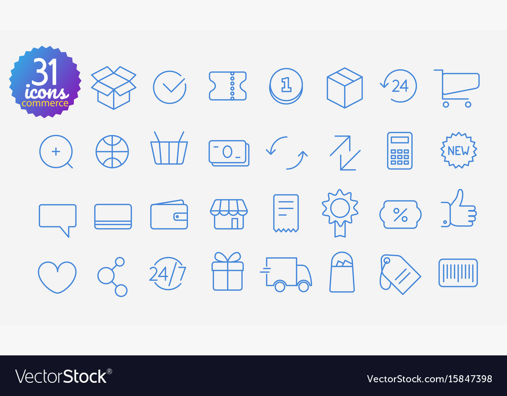 Modern media web and mobile app thin line icons vector image