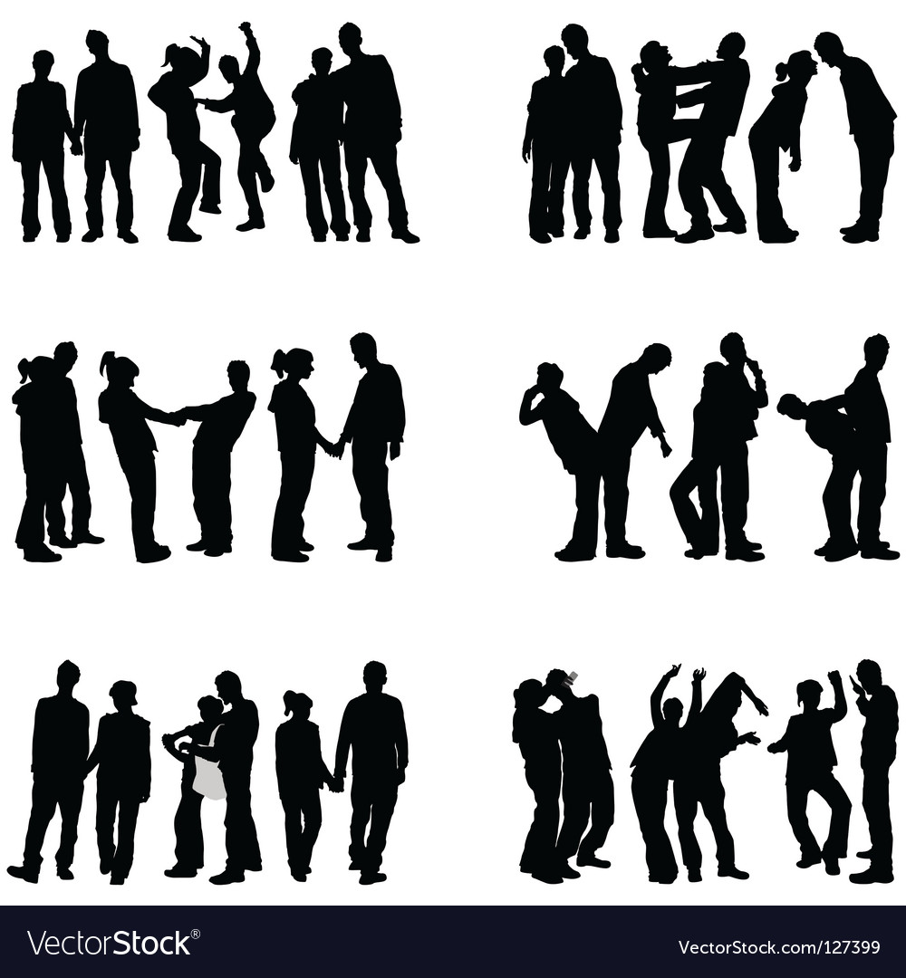 Couple people vector image