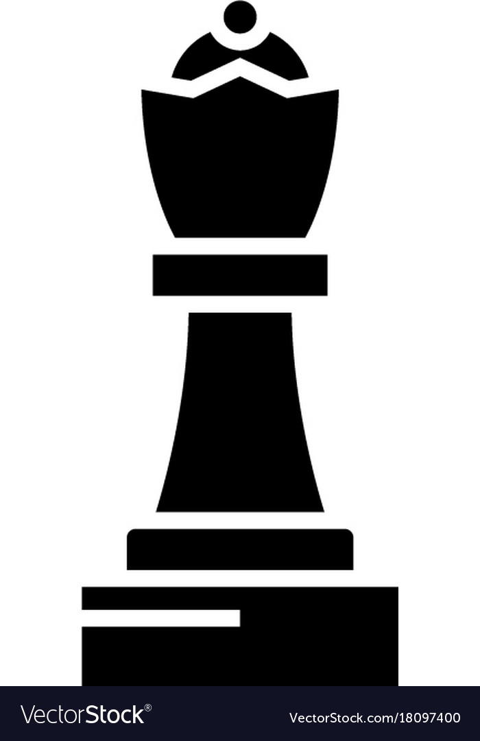 Chess - queen icon black vector image