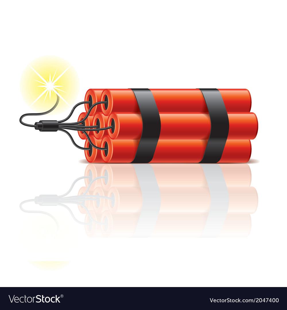 Object dynamite sticks vector image