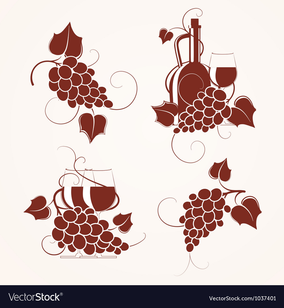 Grape design vector image