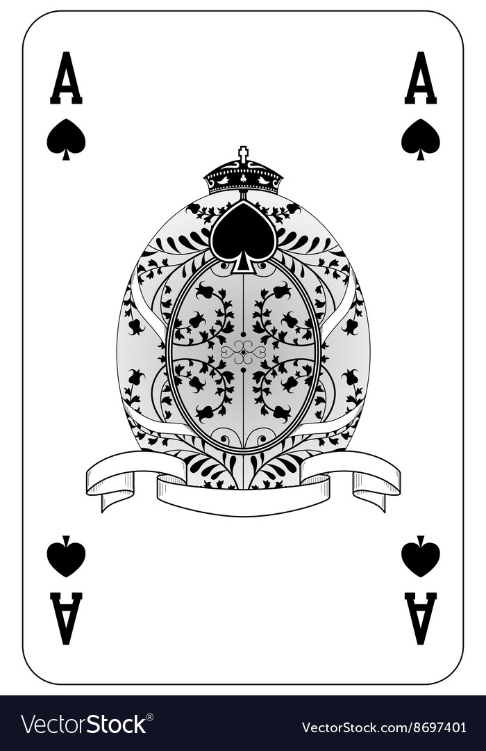 Poker playing card Ace spade vector image