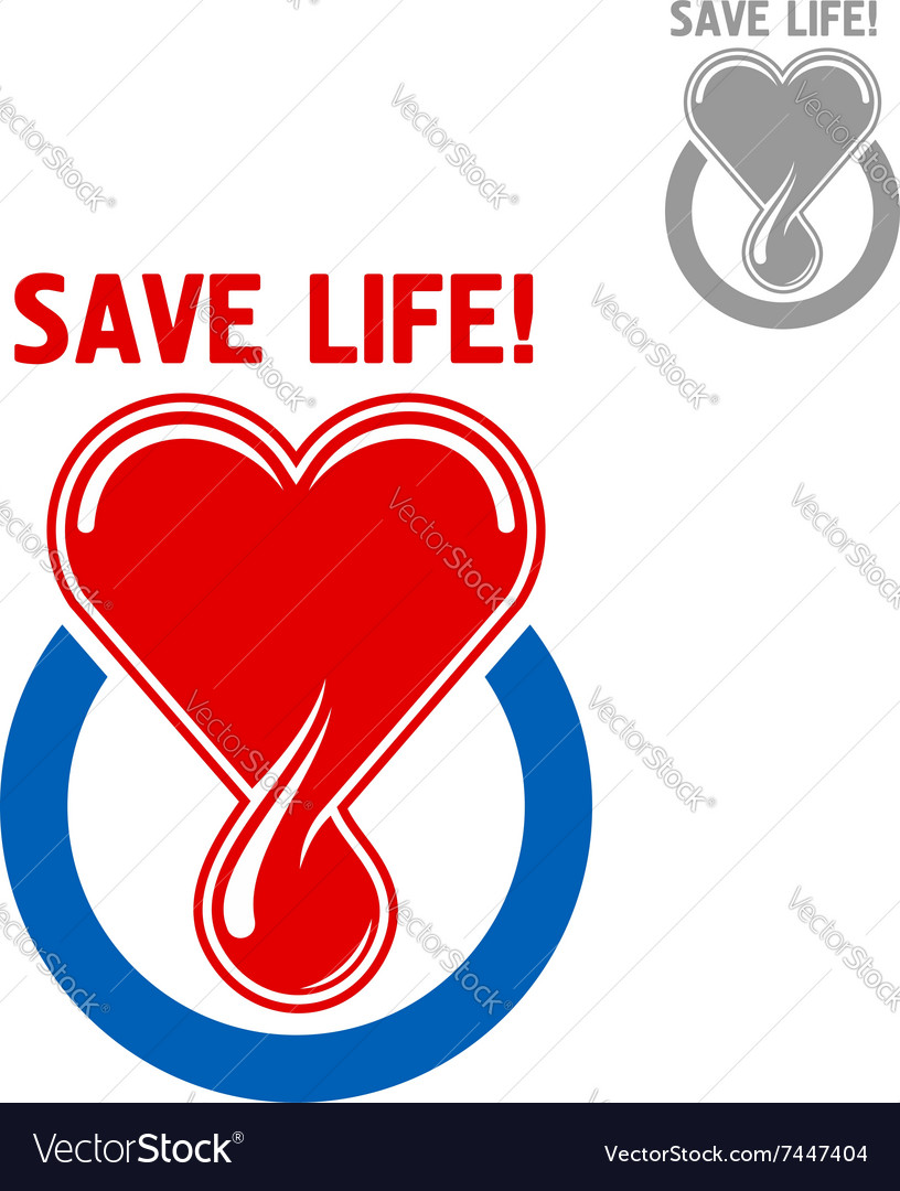 Blood donation symbol with heart and blood drop vector image blood donation symbol with heart and blood drop vector image buycottarizona