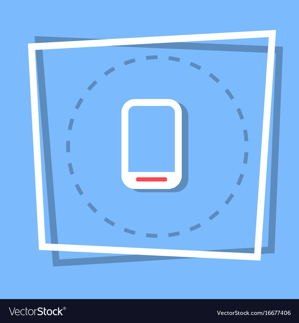Cell smart phone icon tablet computer web button vector image