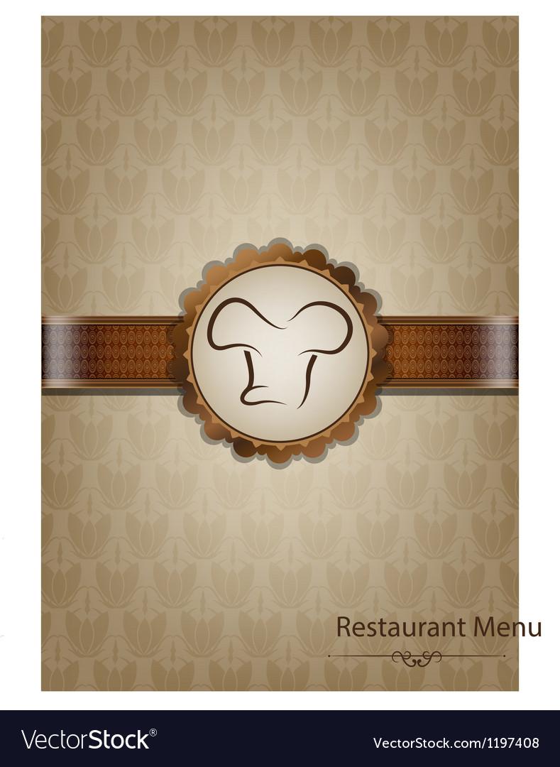 Brown restaurant menu design vector image