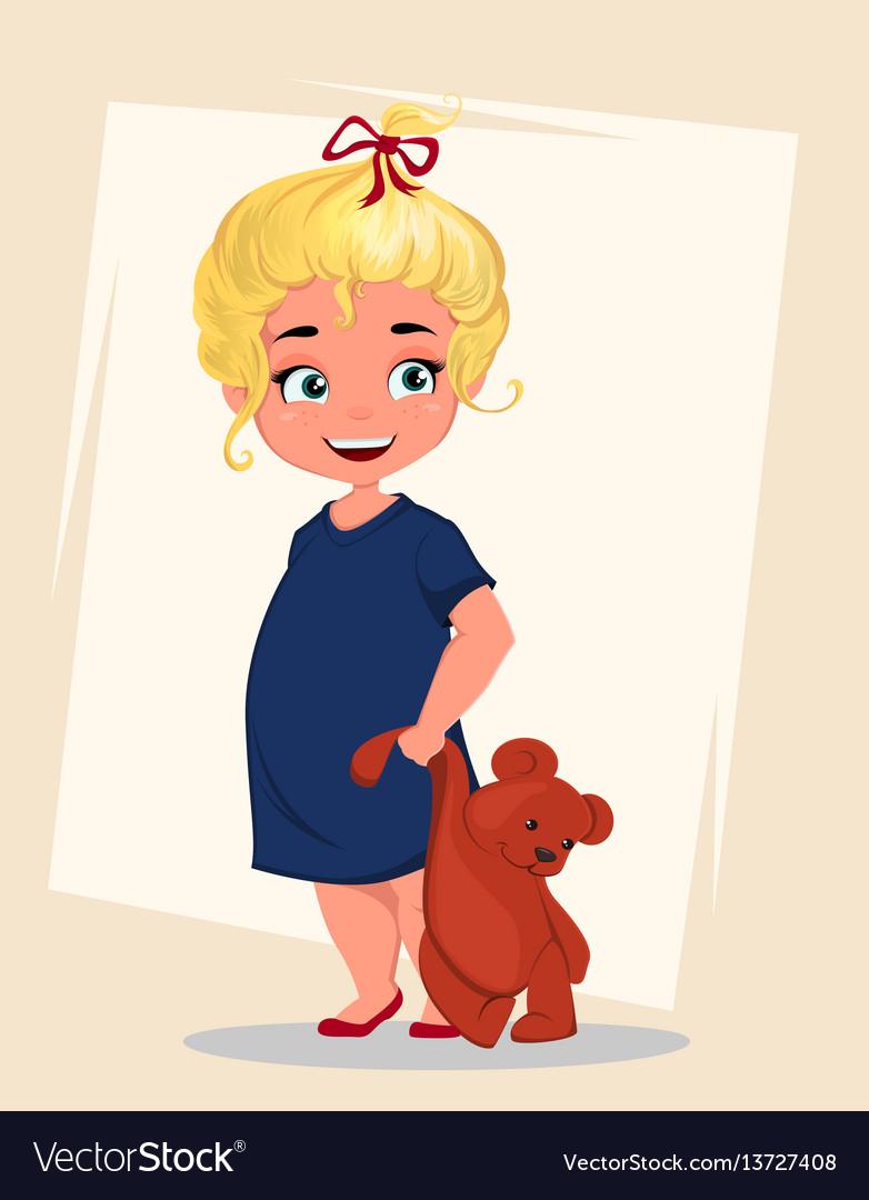 Cartoon-girl vector image