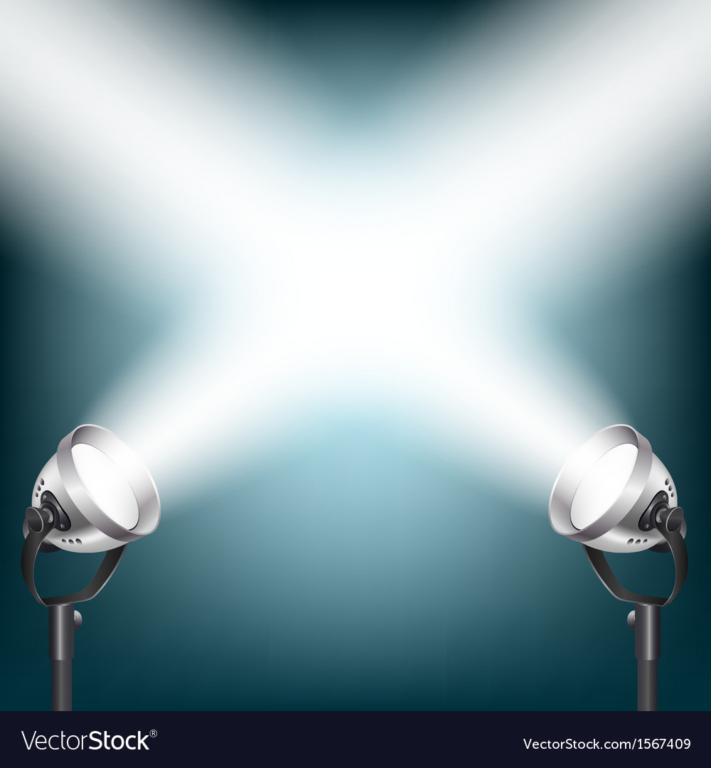 Spot lights vector image