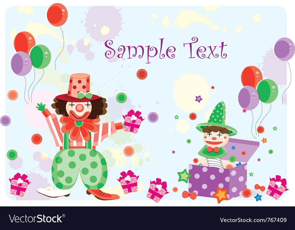 Clown cartoon vector image