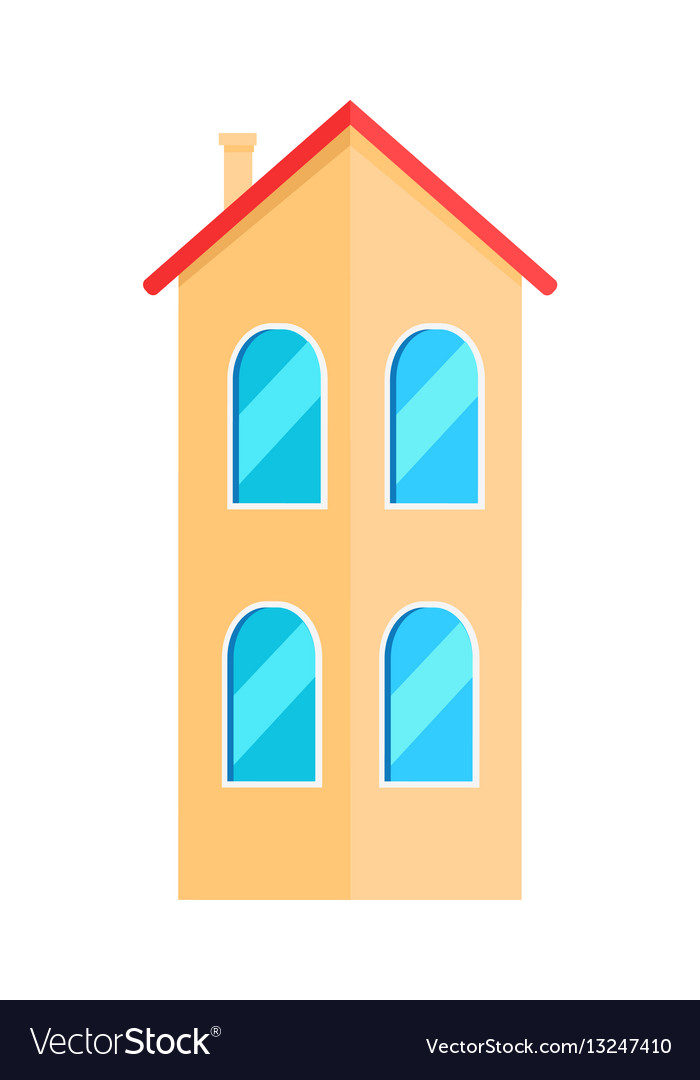 Two floor house vector image