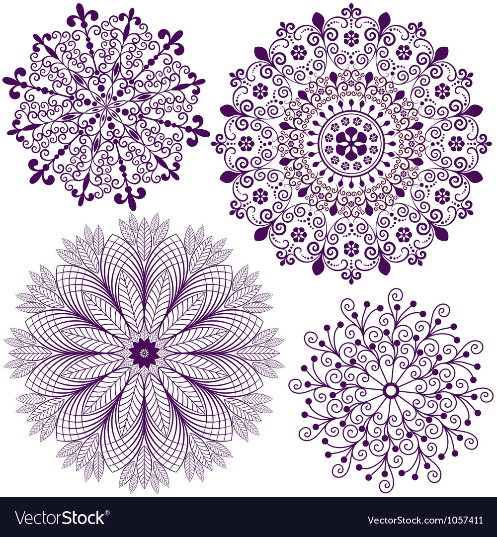Collection new snowflakes vector image