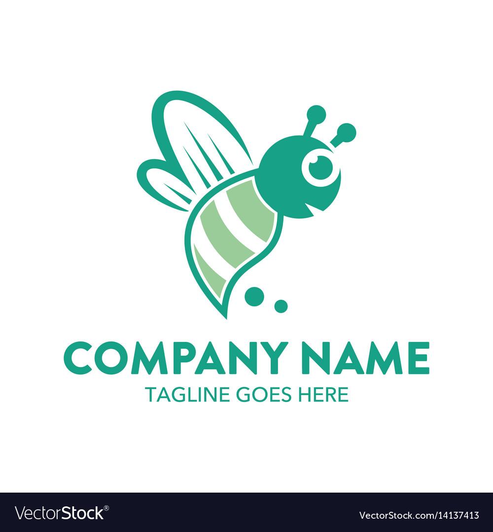 Bee logo-6 vector image
