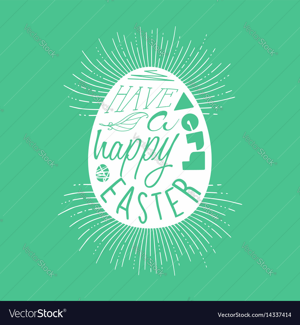 Happy easter egg typography quote design vector image