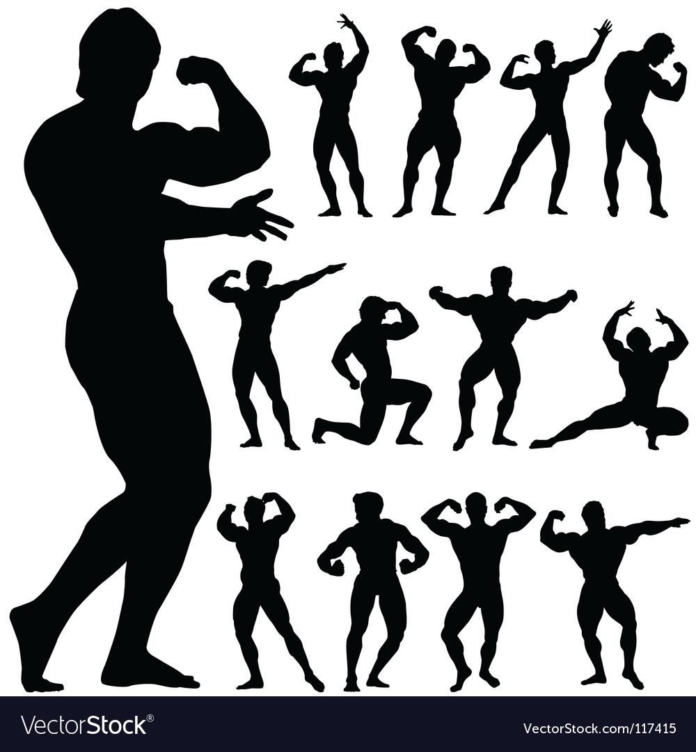 Body building vector image