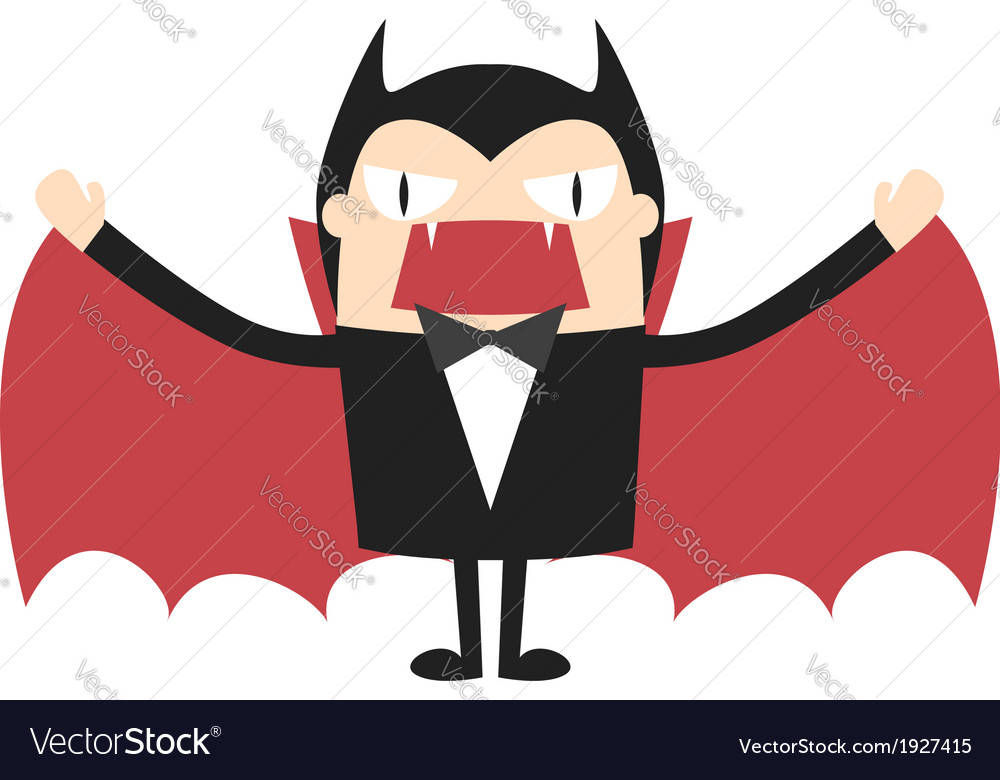 Cartoon vampire vector image