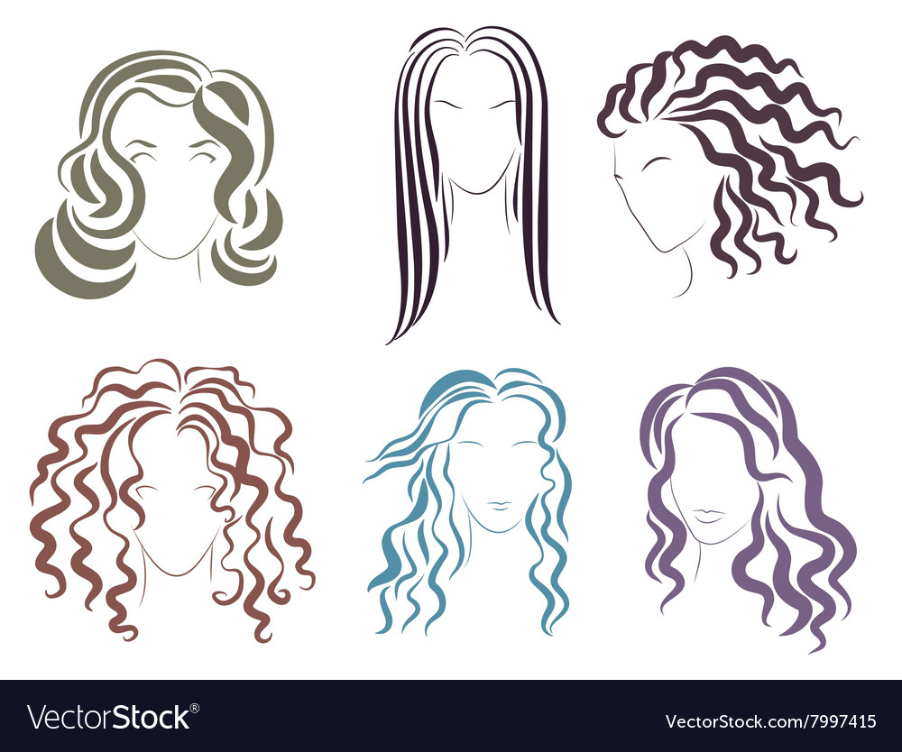 The several options styles vector image