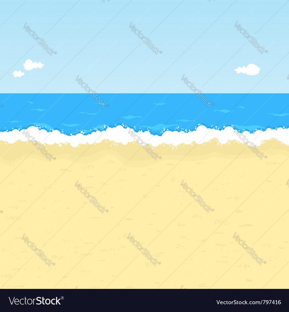 Cartoon beach vector image