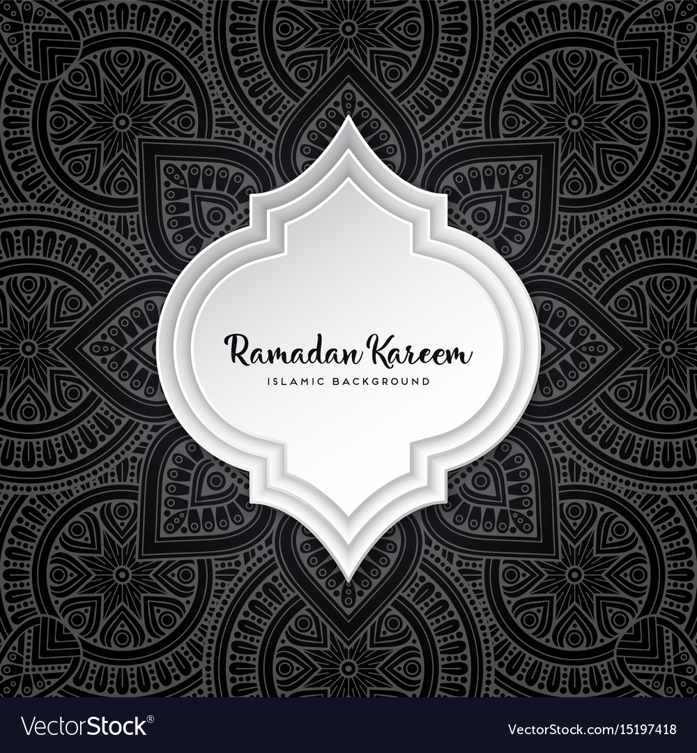 Islamic background vector image