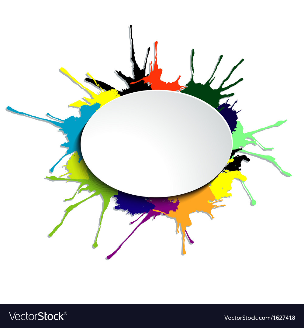 Oval on the blots vector image