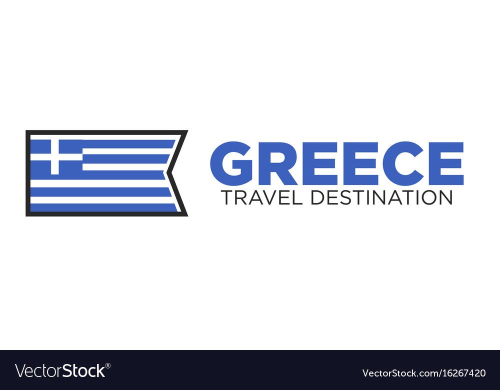 Greece travel destination logo vector image