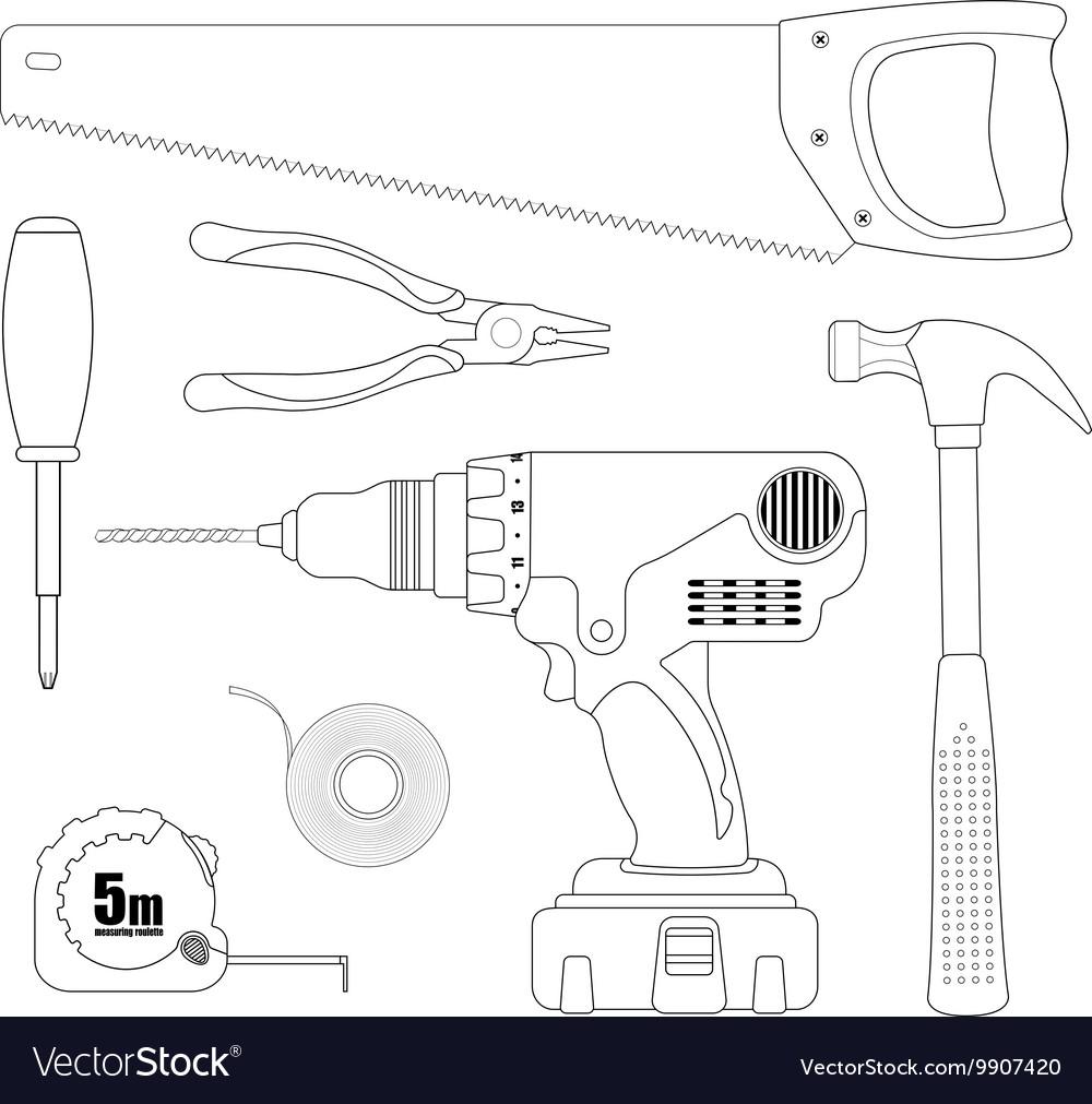 Repair Tool Set vector image