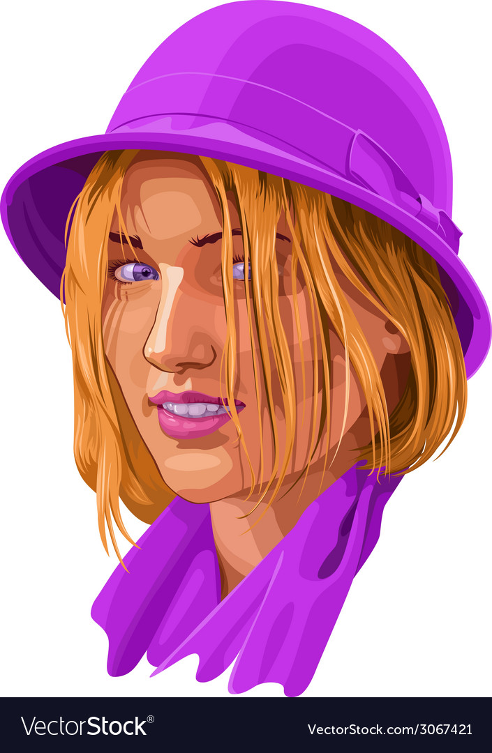 Woman portrait vector image