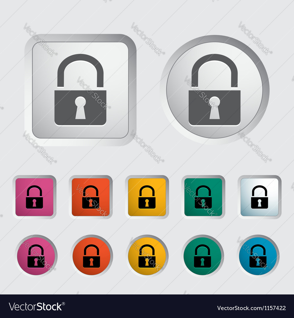 Lock single icon Vector Image