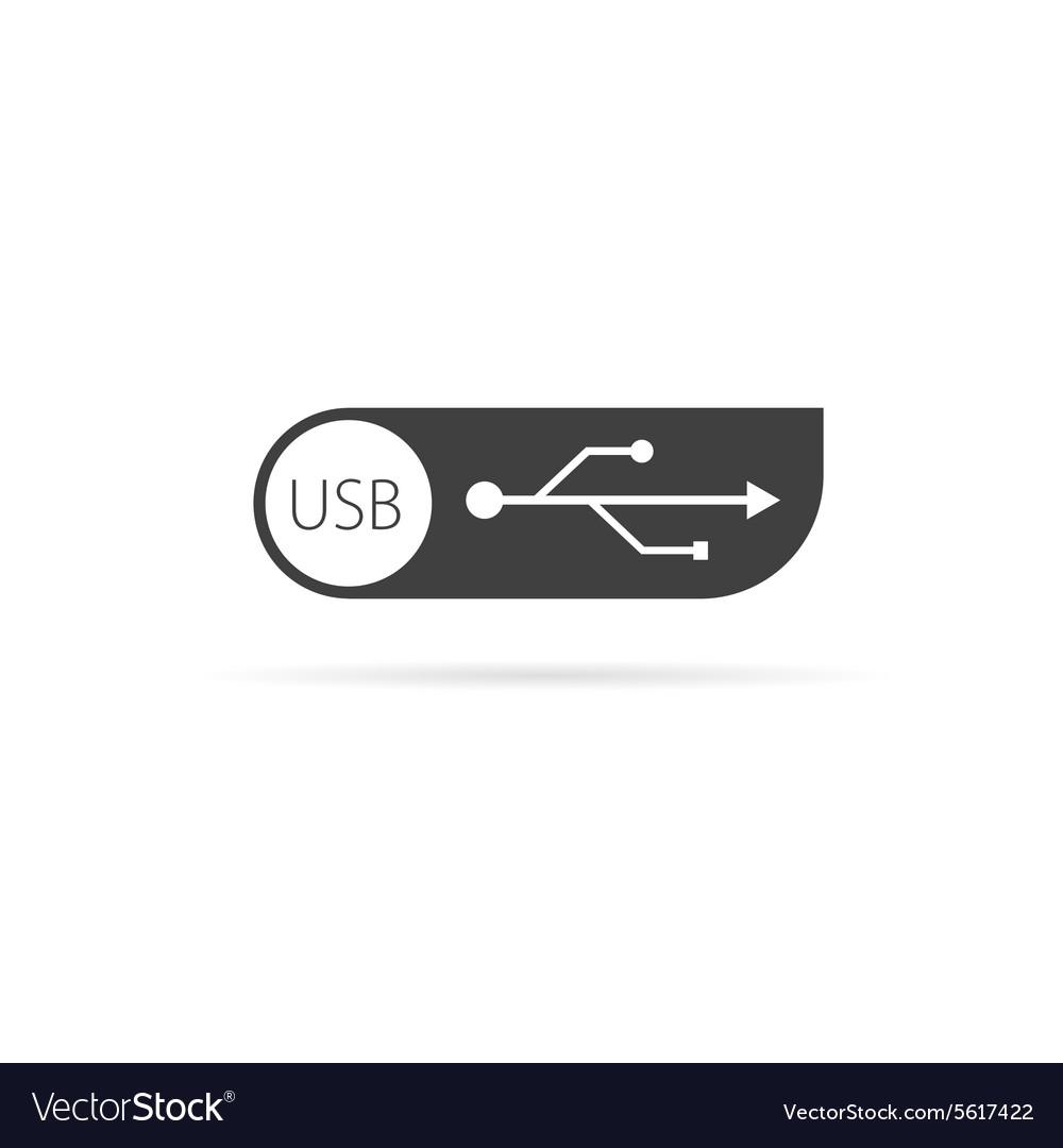 Usb icon vector image
