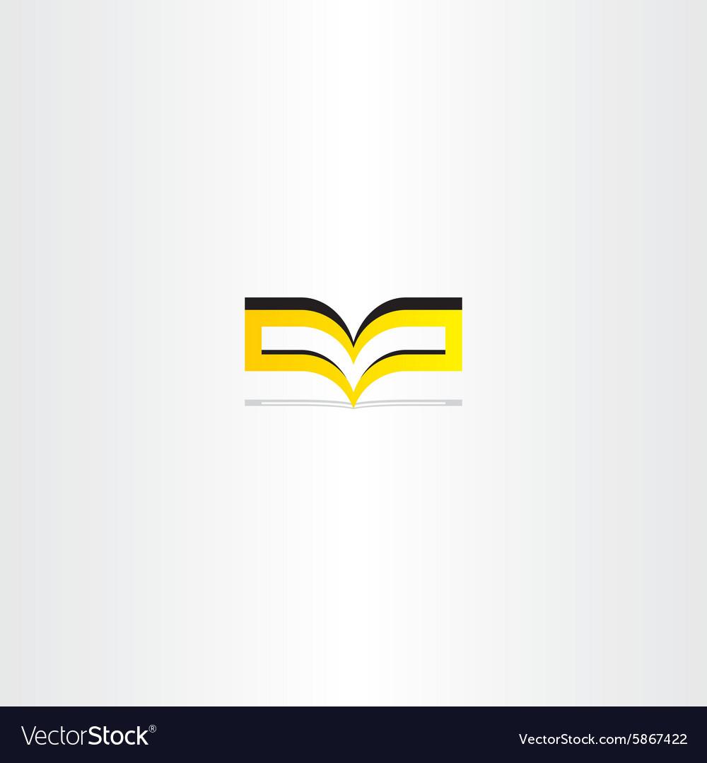 Yellow book logo icon vector image