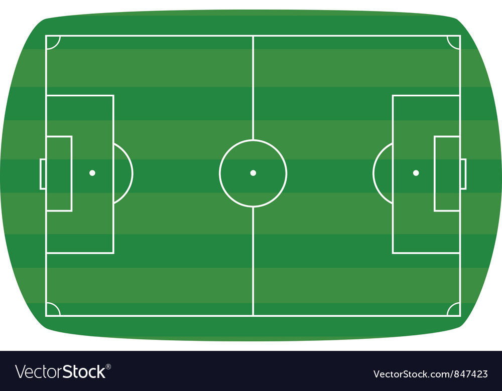 Green football field background Vector Image