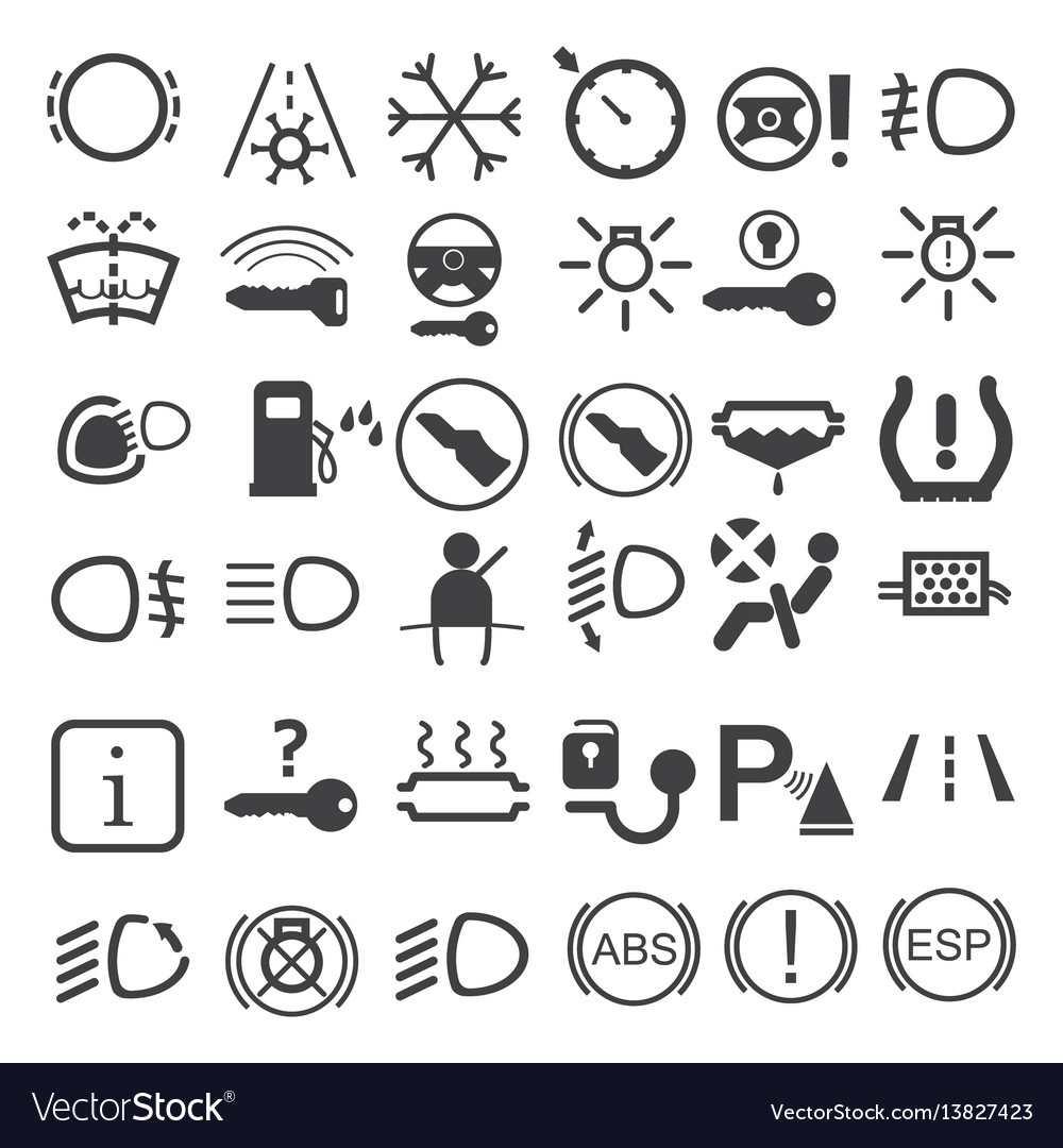 Car dashboard icons royalty free vector image vectorstock car dashboard icons vector image biocorpaavc Images