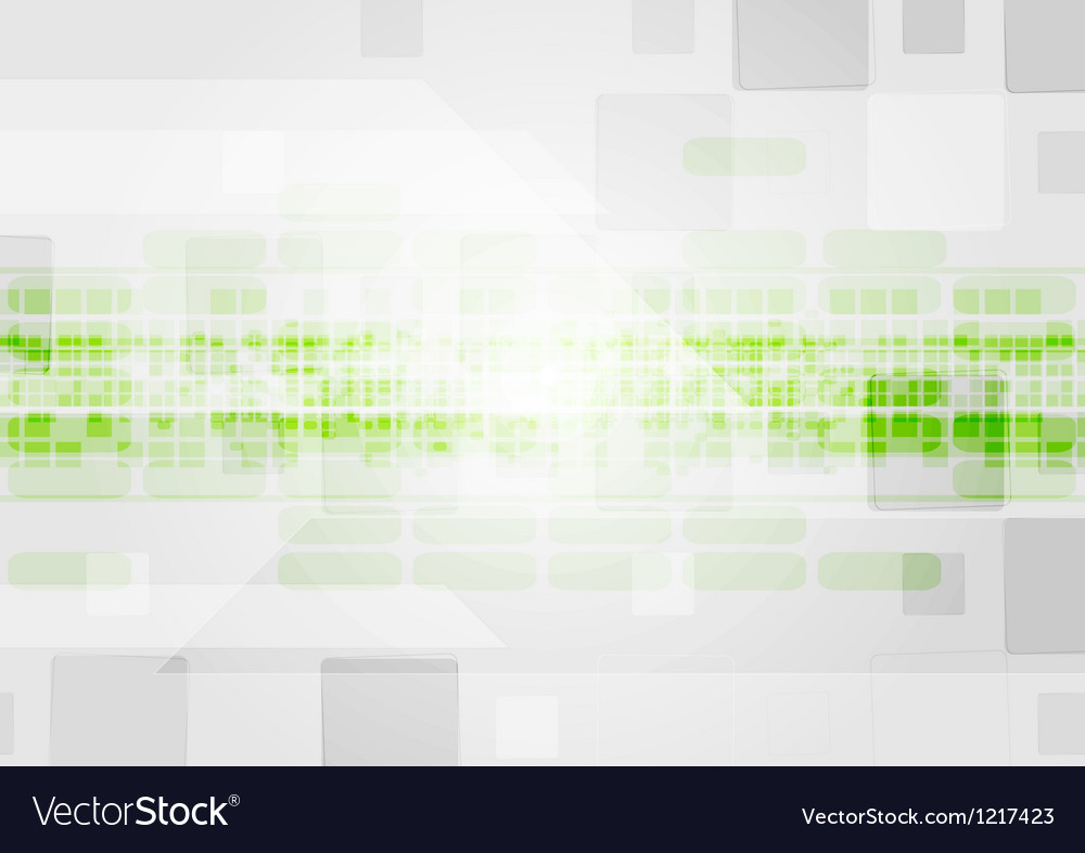 Colourful tech elements on the grey background vector image