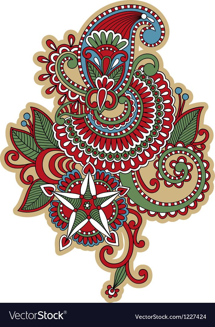 hand draw ornate flower tattoo design royalty free vector. Black Bedroom Furniture Sets. Home Design Ideas