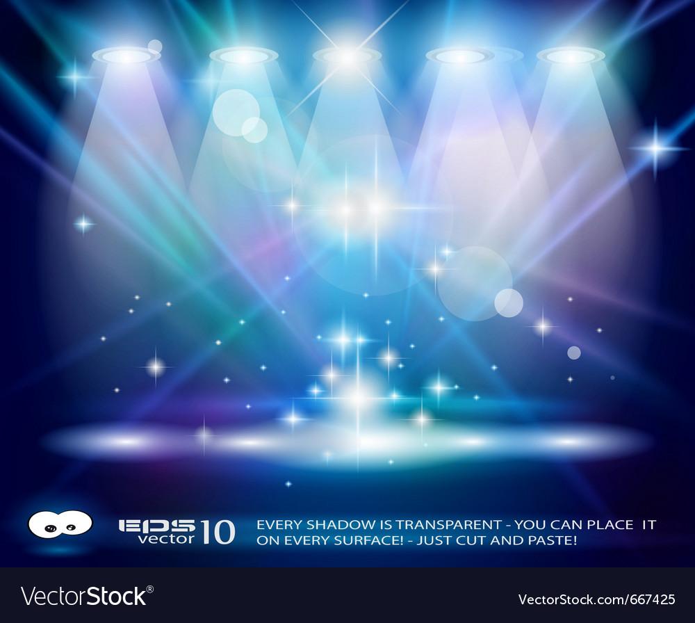 Magic spotlights vector image