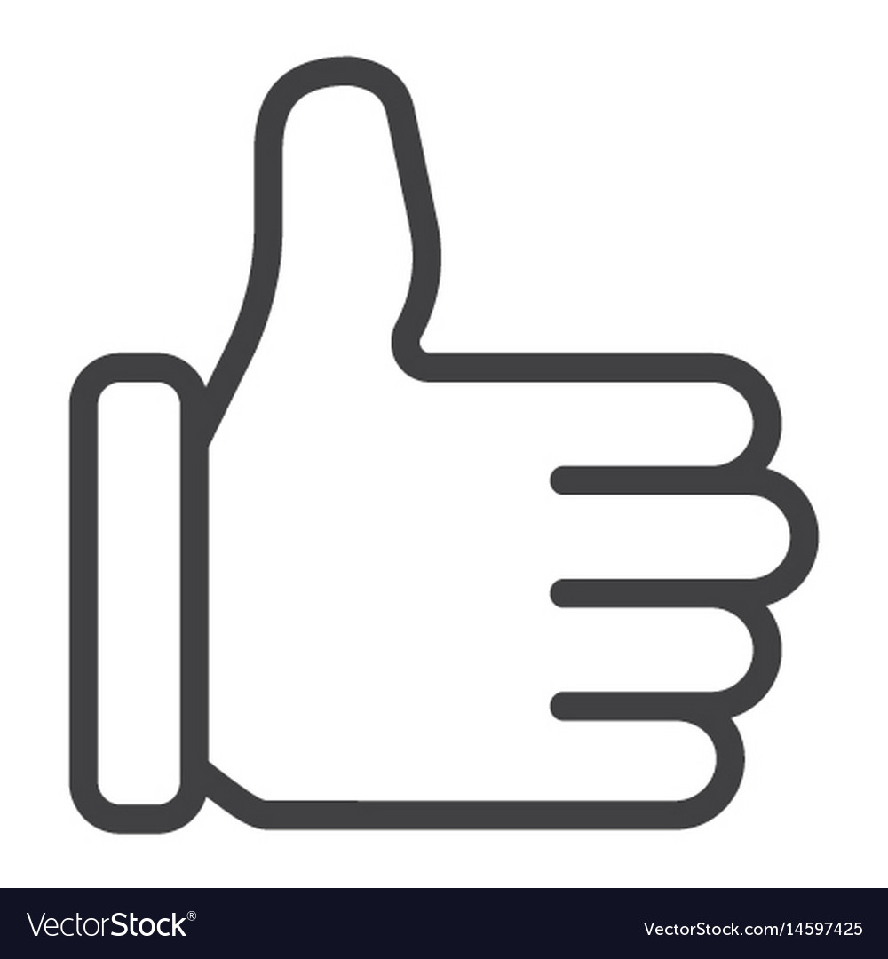 Like line icon social media and website vector image