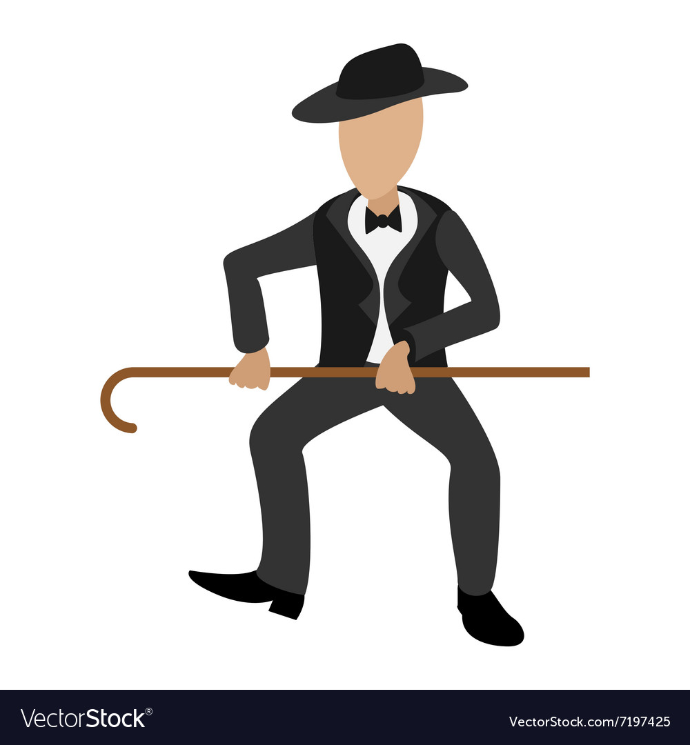 Tap dancer cartoon vector image