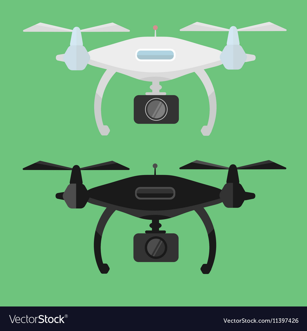 Drone with Camera in flat style vector image