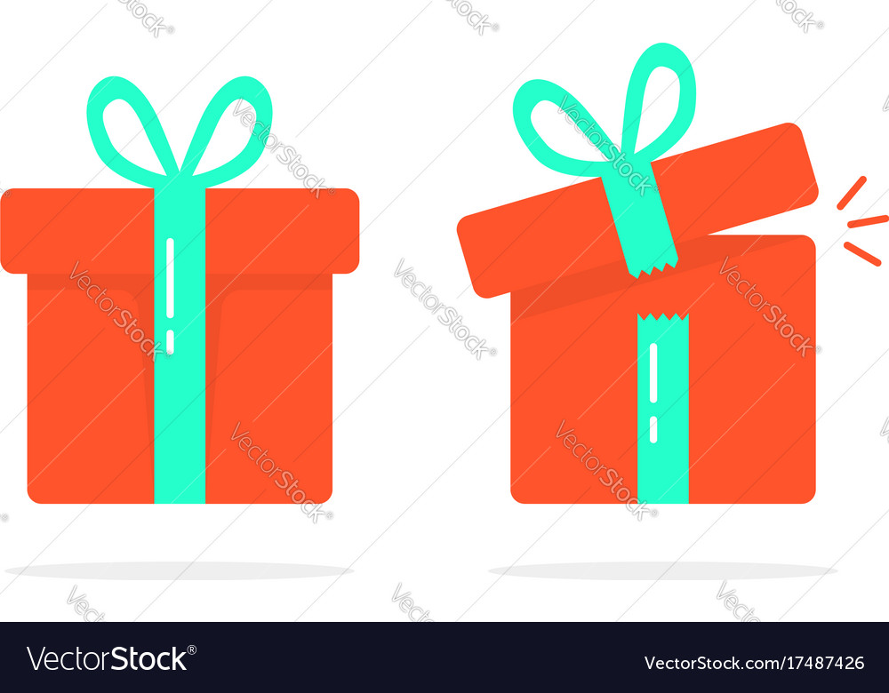 Red closed and open gift boxes royalty free vector image red closed and open gift boxes vector image negle Gallery