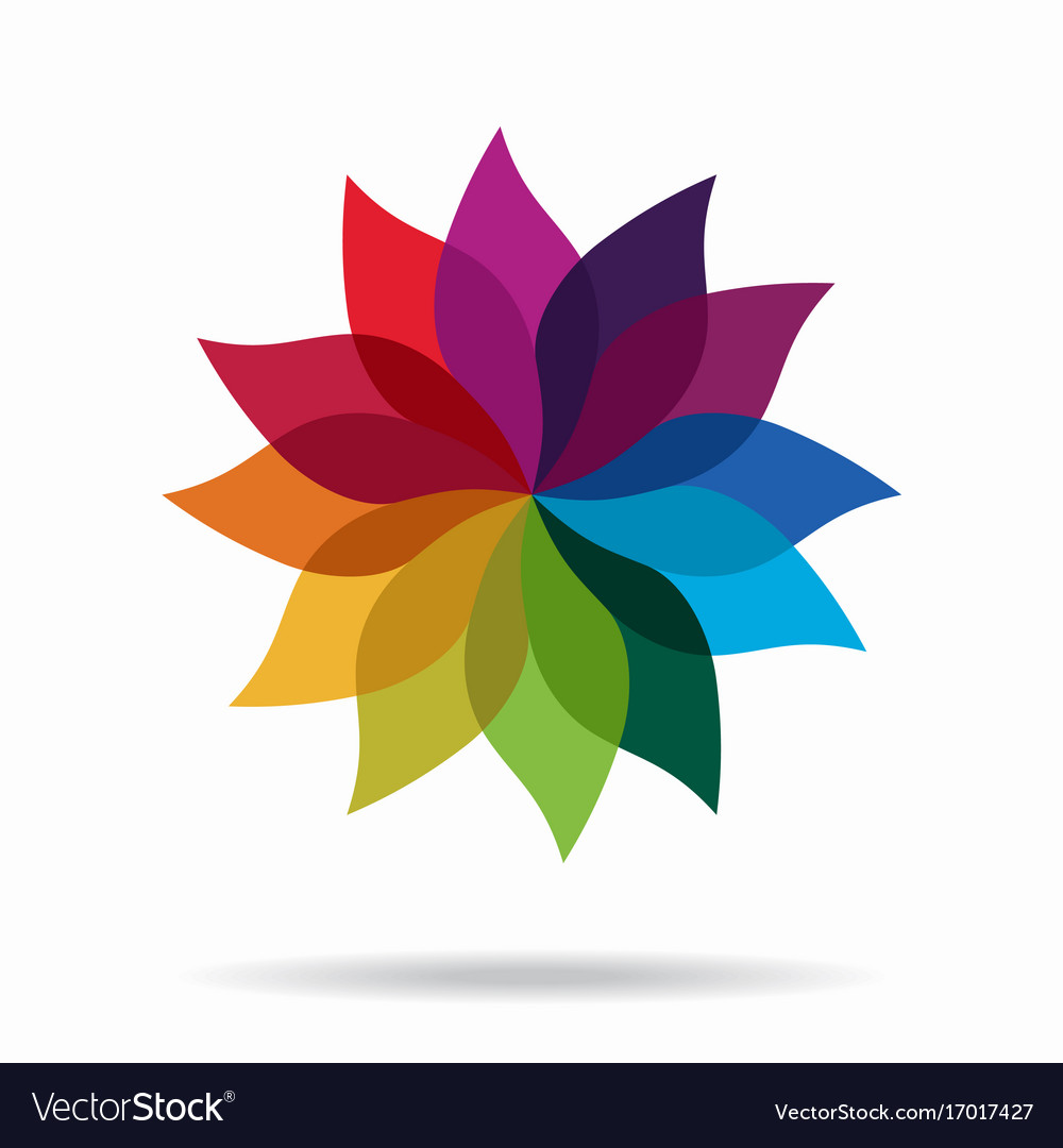 Beautiful design element abstract flower vector image