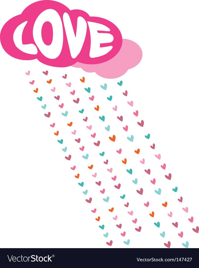 Romance background vector image