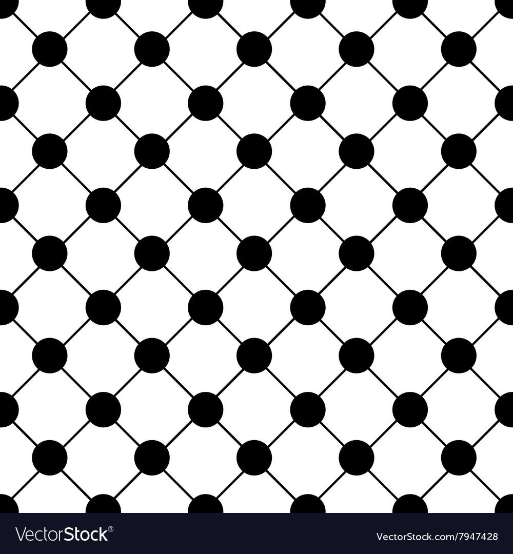 black polka dot chess board grid white royalty free vector