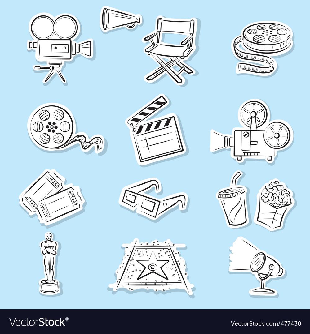 Cinema graphics vector image