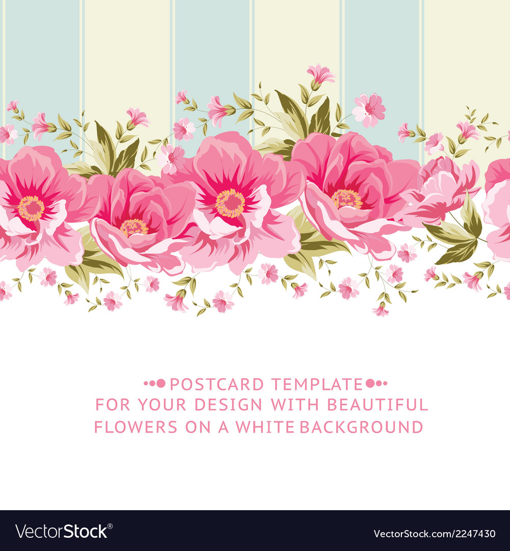 Ornate pink flower border with tile royalty free vector ornate pink flower border with tile vector image mightylinksfo Images