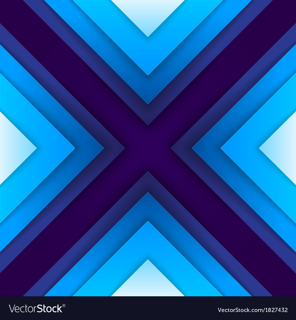 Abstract blue paper triangle shapes background vector image