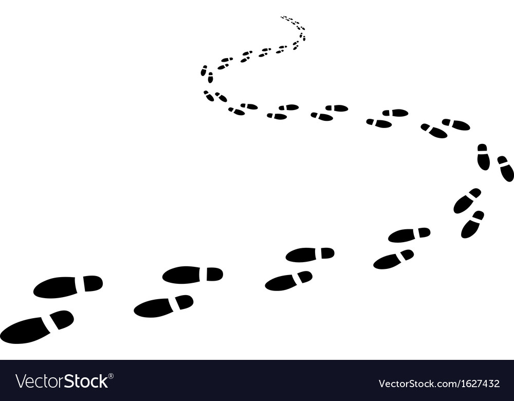 Footptints vector image